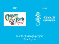 Demo logo for 香港海洋公園 Ocean Park Hong Kong ( Redesign )