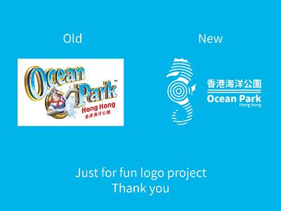 Demo logo for 香港海洋公園 Ocean Park Hong Kong ( Redesign ) 香港海洋公園 海洋公園 ocean china hong kong logo mack minimalism abstract park seahorse