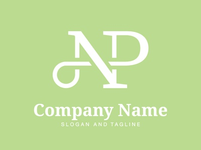 Pre-made LOGO for sale - Letter NP 01