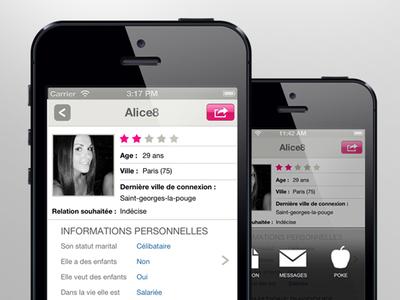 Mobile App for online dating
