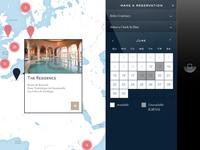 Mobile app hotel reservation