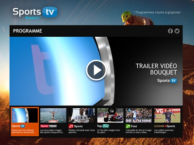 Sport TV homepage uix player tv sport home homepage