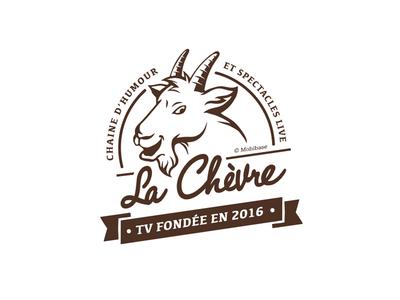 Logo La Chevre TV program illustration program tv art cover screen animation vector logotype logo