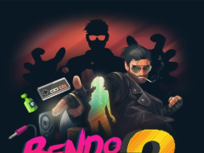 Bendorama 2 Cover art hiphop reggae ragga cover music coverart nintendo 8bit illustration pixelart art pixel