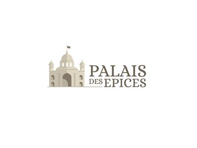 Palais des epices serif vector design illustration font logotype