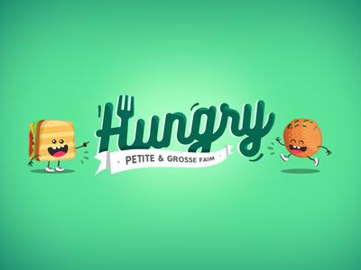 Hungry Food truck Logo colors flat illustration fun food foodtruck logo