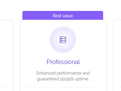 Minimalist pricing tables purple minimalist pricing table