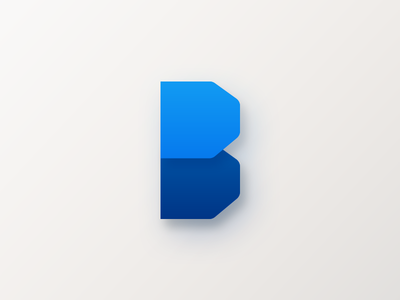 B Launcher Icon blue android launcher icon b