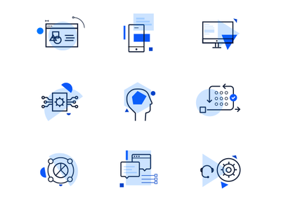 Geometric inspired icons