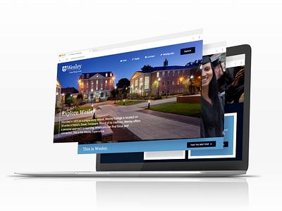 Wesley College Admissions Mockup freelance design website mockup wordpress webdesign