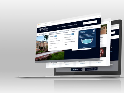 Wesley College Covid-19 Protect Launch wordpress design covid-19 wordpress design mockup webdesign website freelance design