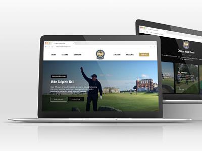 New Launch - Mike Suplpizio Golf website mockup wordpress design design wordpress webdesign freelance design