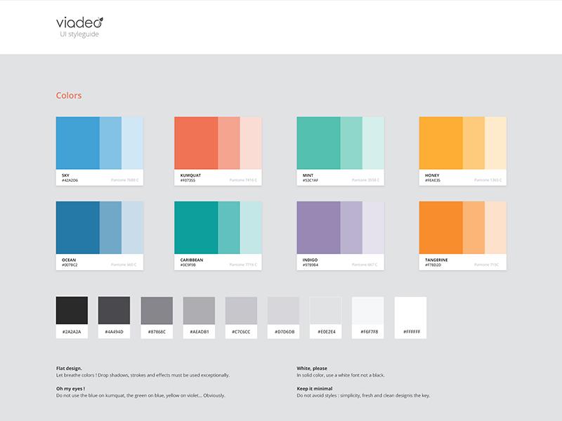New Viadeo UI Style Guide minimalist clean ui style guide guidelines viadeo