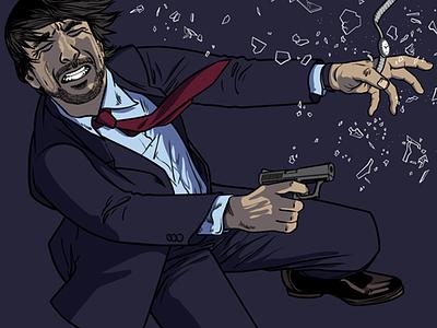Satifying Villain Death die hard illustration death villain