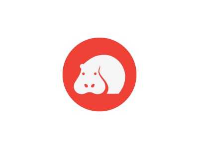 Hippo1 simbol mark animal hippo logo