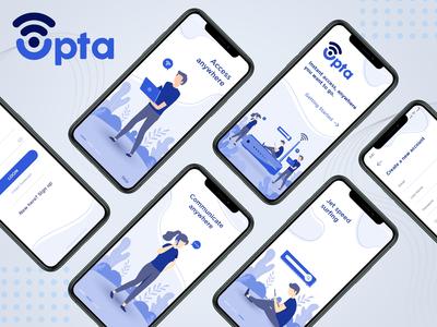 Opta Broadband Mobile App Concept