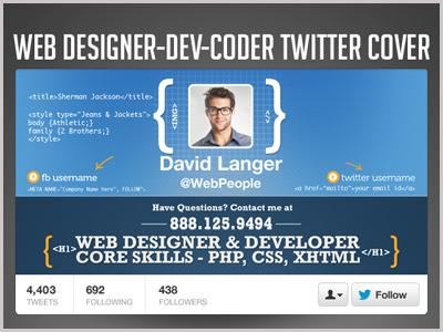Web Designer Developer Coder Twitter Header Photo by Premade