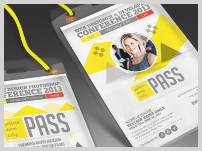 conference expo corporate pass id badge by sherman jackson