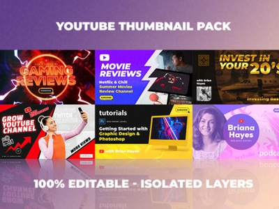 Youtube Thumbnail Templates Set 3 - 6 in 1 youtuber thumbnails youtuber youtube thumbnails youtube thumbnail template youtube thumbnail size vlogging thumbnails twitch thumbnails tutorials tutorial channel thumbnail maker review channel mr beast gaming thumbnails fortnite thumbnails faze rug ace family