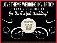 Love theme wedding invitation prev
