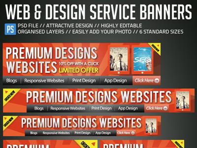 Web Design Banners Ad Kit By Sherman Jackson