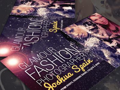 Fashion Photographer Business Card V2 creative business card show fashion glamour photographer business card fashion photography makeup models prom