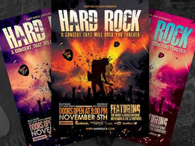 hard rock concert flyer by sherman jackson dribbble dribbble