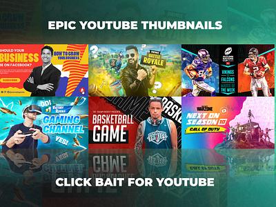 Epic Youtube Thumbnails Set 12 youtube video thumbnail