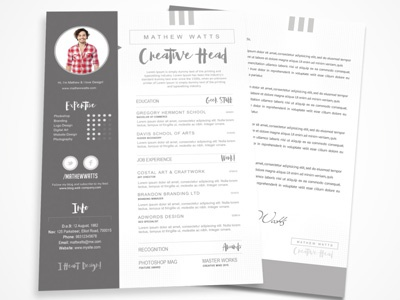 Sharp Clean Resume Template By Premade Pixels