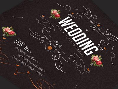 Vintage Floral Swirl Wedding Invitation Card wedding invitations save the date marriage invites marriage just married invite i do flowers floral invitation classic wedding card chalkboard invitation black vintage