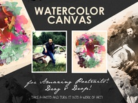 Watercolour Canvas Photo to Art