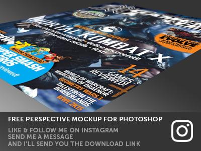 Photoshop Freebie - Perspective mockup  mockups dribbble invite photoshop mockup free freebie photoshop