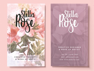 Floral Watercolor Business Card by Sherman Jackson Dribbble