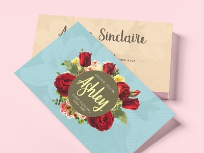 Floral Watercolor Business Card V.02
