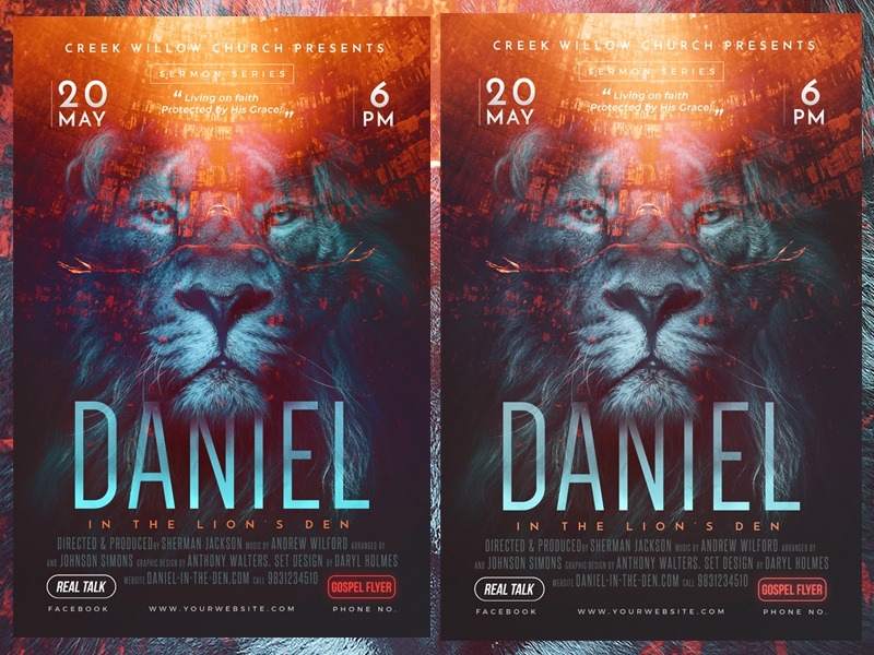Church Themed Event Poster - Daniel daniel cross church posters church flyer templates church christian flyers christ celebrations burdens anxiety
