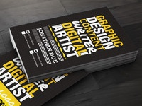 Artistic business card designs on dribbble creative designer business card2 reheart Image collections