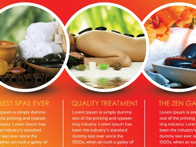 Spa Flyers By Sherman Jackson Dribbble