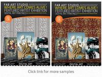 Digital Art Studio & Gallery Flyer PSD Vol.2