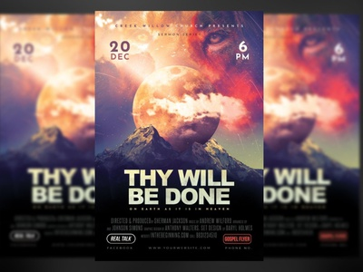Thy Will Be Done Church Poster lion king jesus healing he is risen easter flyers den daniel crucifix crown cross church posters church flyer templates church christian flyers christ celebrations celebration burdens anxiety