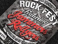 Rock Fest Typographic Flyer PSD Template