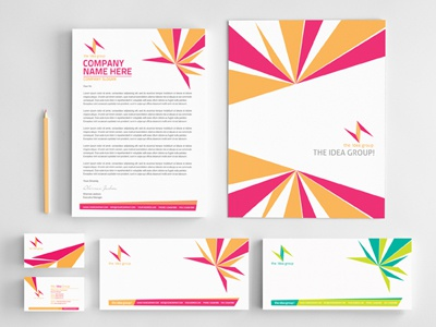 corporate identity and stationery set 1 by sherman jackson