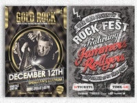 Rock Music Show Flyer Bundle Pack#2