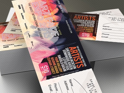 art expo art show event tickets passes template by sherman jackson