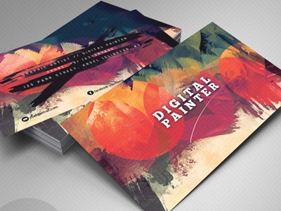 Artistic Business Card3 By Sherman Jackson Dribbble Dribbble