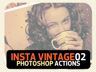 INSTA Vintage Photoshop Actions (ATN) #1 by Premade Pixels
