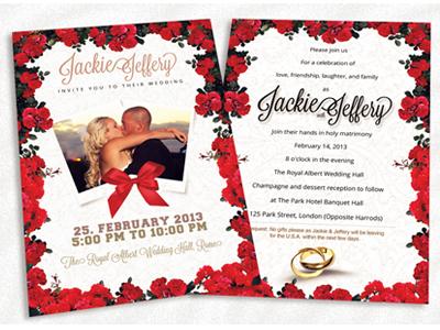 Red white theme wedding invitation card by sherman jackson dribbble dribble shots rwtwc 3 stopboris Choice Image