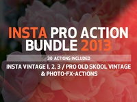 INSTA PRO Premium Photoshop Action Bundle 2013