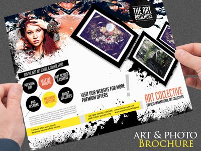 Art Photo Tri Fold Brochure Template By Sherman Jackson Dribbble