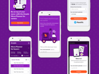 Move Web app screens
