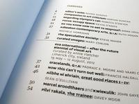 Pva Limerick contents page detail